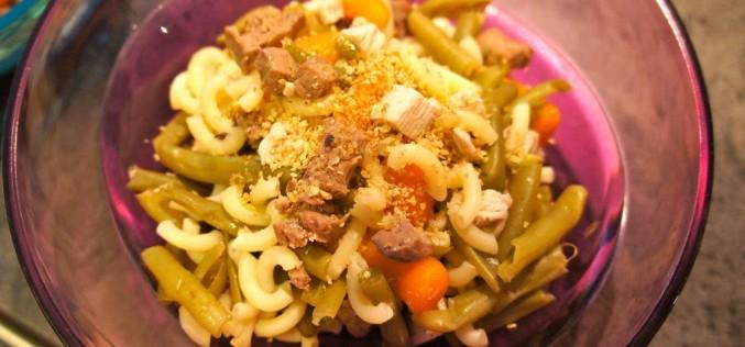Recette pour chien : Dinde, foie et coquillettes